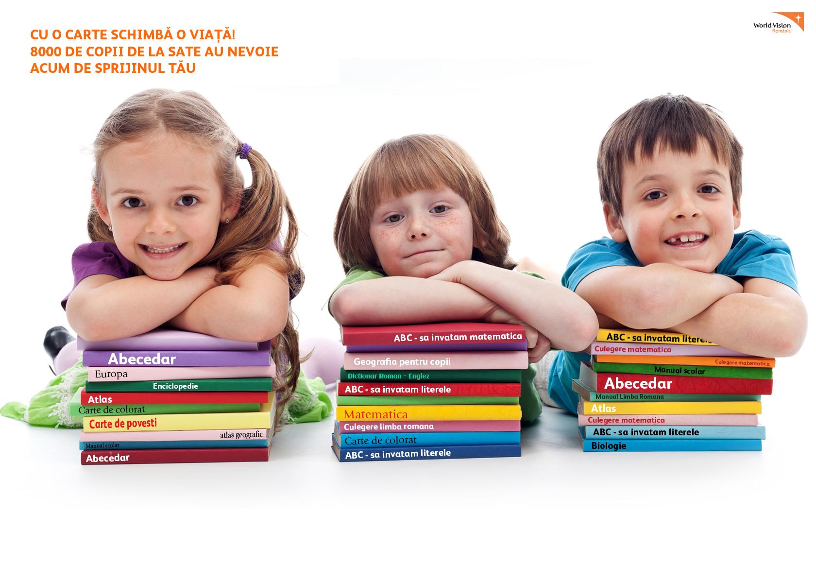Donează o carte pentru copiii din mediul rural