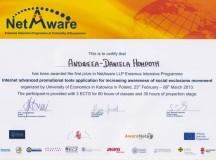 Șase studente ale Universității din București au câștigat cele mai mari premii la Programul European NetAware