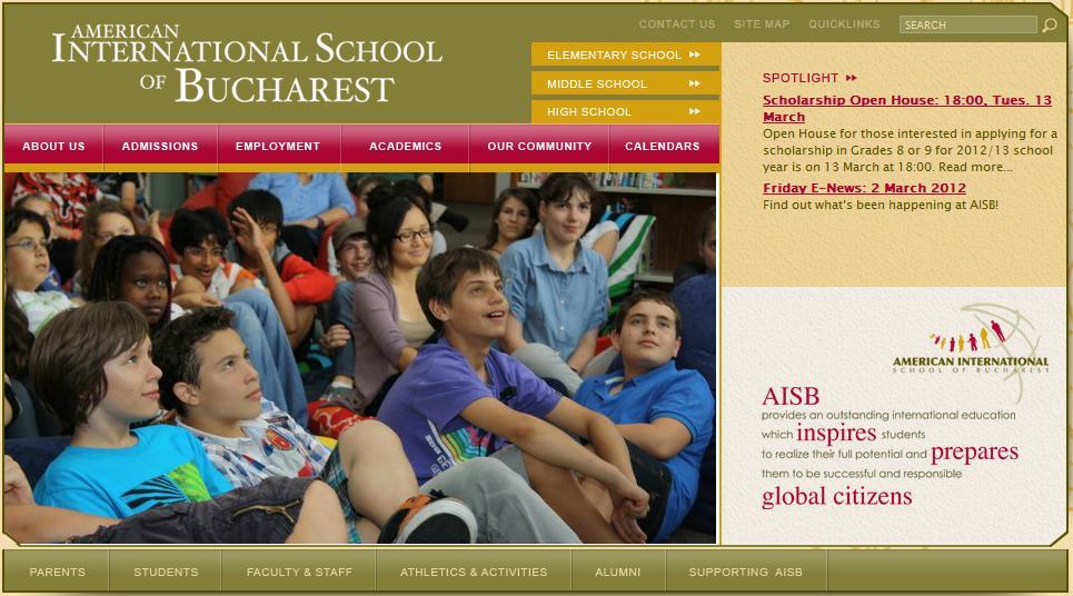 Burse pentru elevii talentați la Școala Americană din București