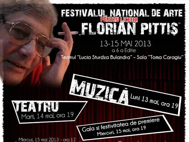 """Festivalul național de arte pentru liceeni """"Florian Pittiș"""" se va desfășura între 13 și 15 mai"""