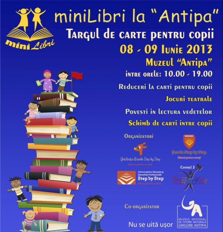 """Târgul de carte pentru copii """"MiniLibri"""" are din acest an și ediție de vară"""