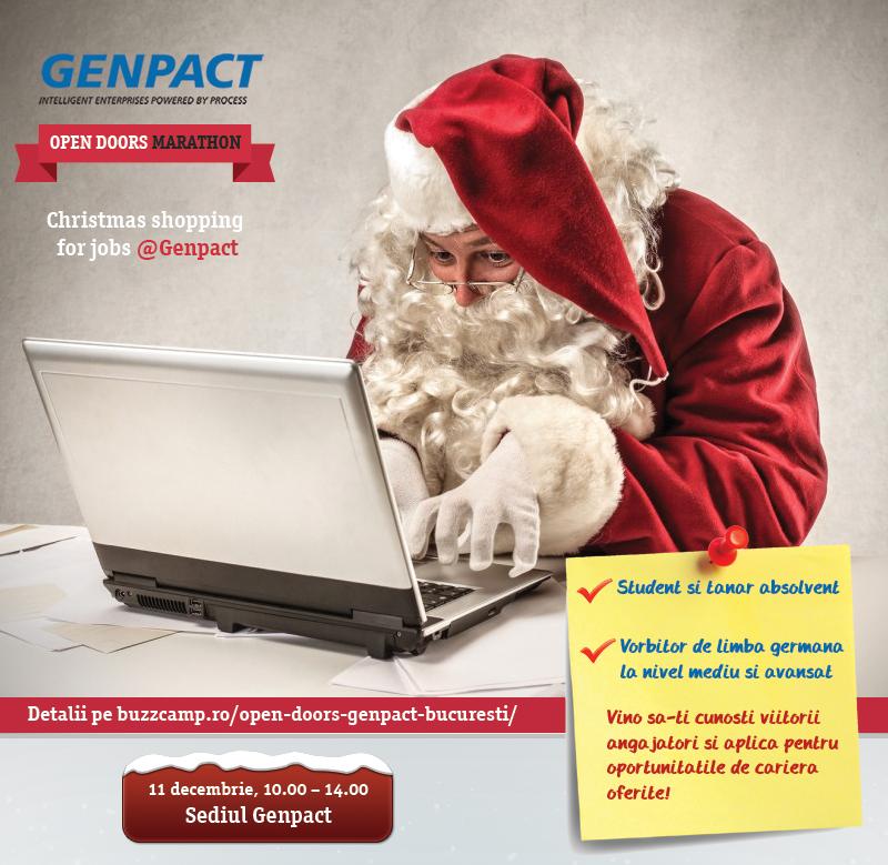 """Genpact vă așteaptă la Târgul de Crăciun """"Open doors"""""""