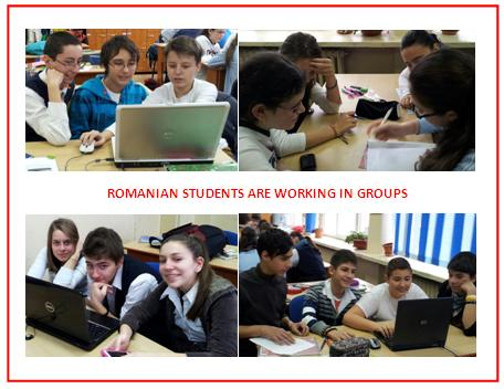 Romanian students at work