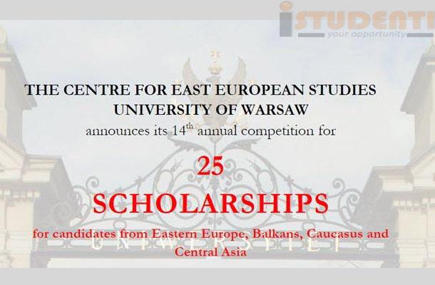 Universitatea din Varșovia oferă studenților români burse de masterat