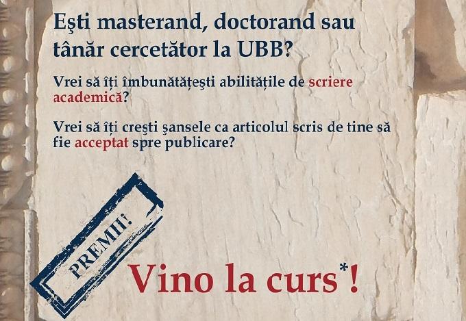 Universitatea Babeș-Bolyai organizează cursuri gratuite de scriere academică pentru masteranzi, doctoranzi și tineri cercetători
