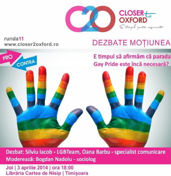 Despre Paradele Gay – o dezbatere ca la carte
