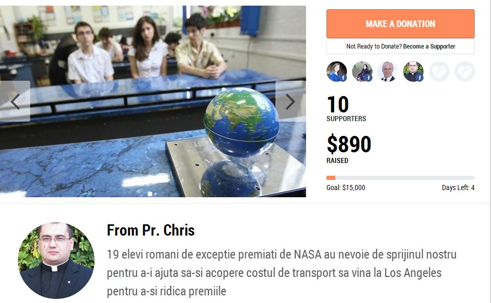 19 elevi români premiați de NASA au nevoie de sprijinul nostru pentru a-i ajuta să-și ridice premiile
