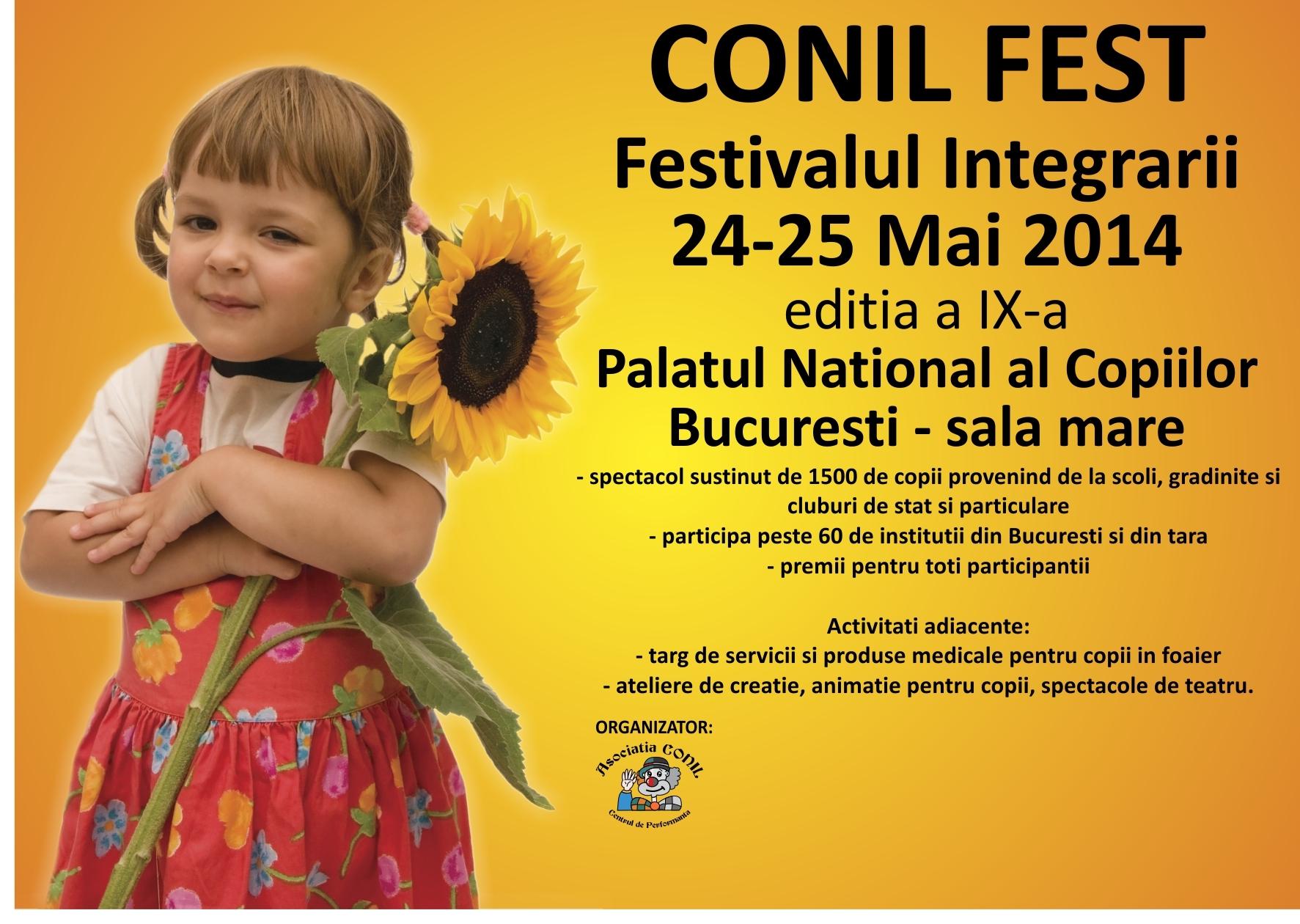 În weekend, vă așteptăm la CONIL Fest – Festivalul Integrării, ediția a IX-a!