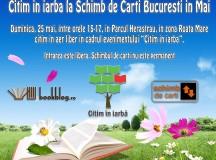 În luna mai citim în iarbă la Schimb de Cărți București