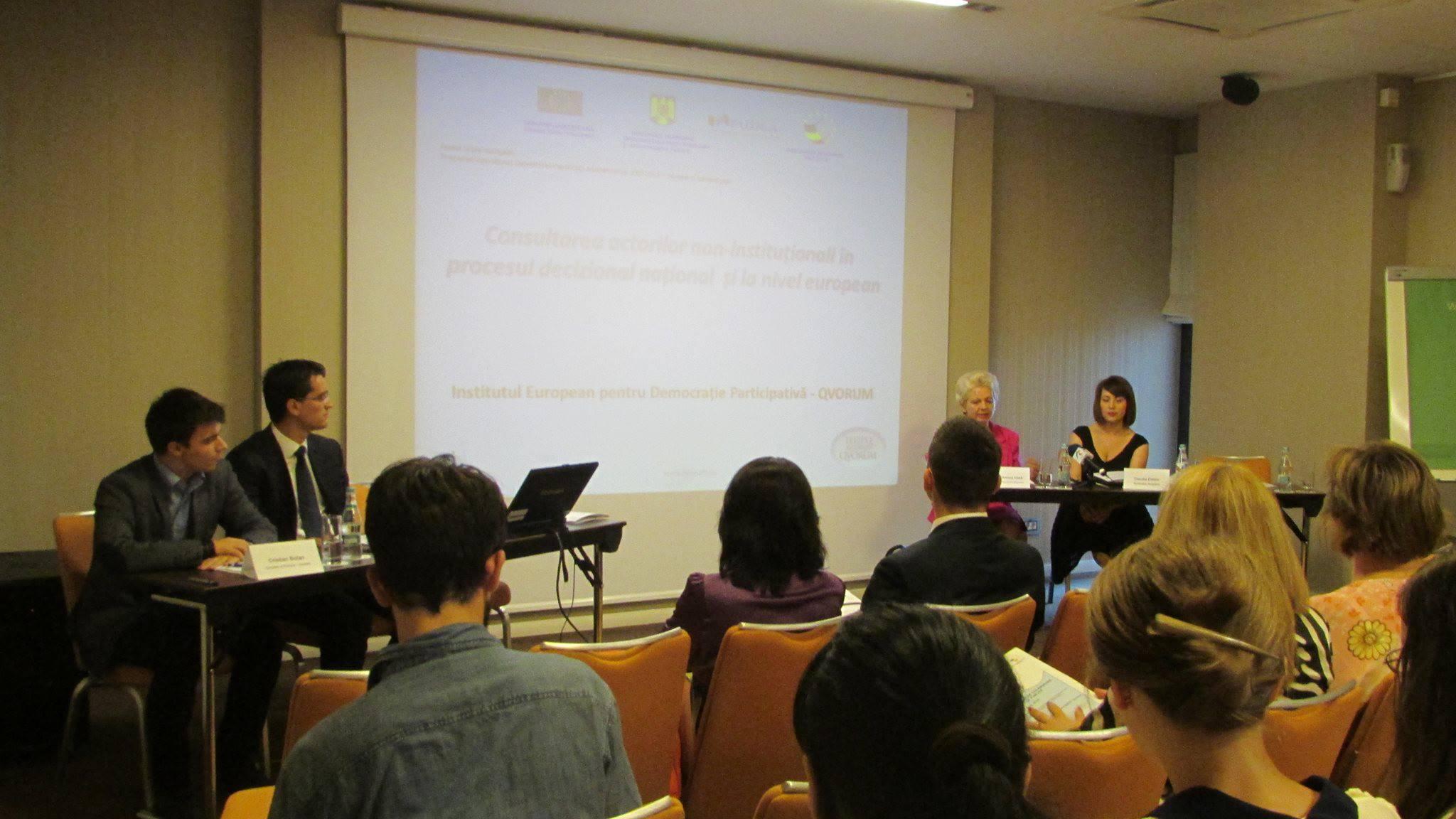 Institutul European pentru Democrație Participativă – Qvorum oferă stagiu plătit în domeniul științelor politice