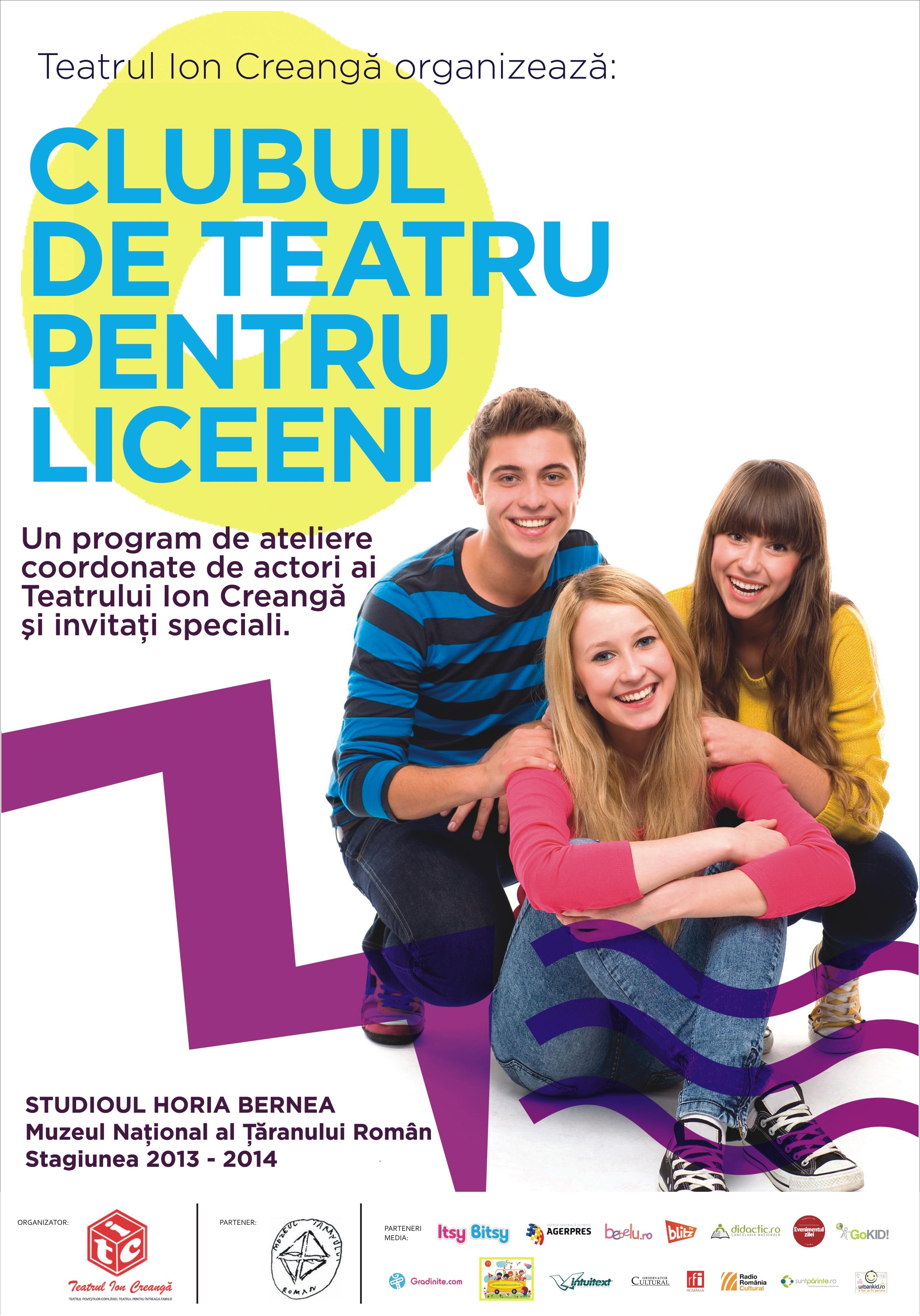 Teatrul Ion Creangă organizează cursuri de actorie pentru liceeni