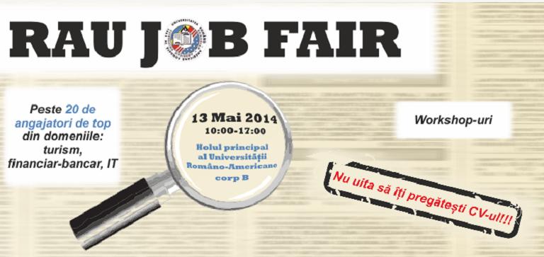 """Universitatea Româno-Americană organizează târgul de joburi """"RAU JOB FAIR"""""""