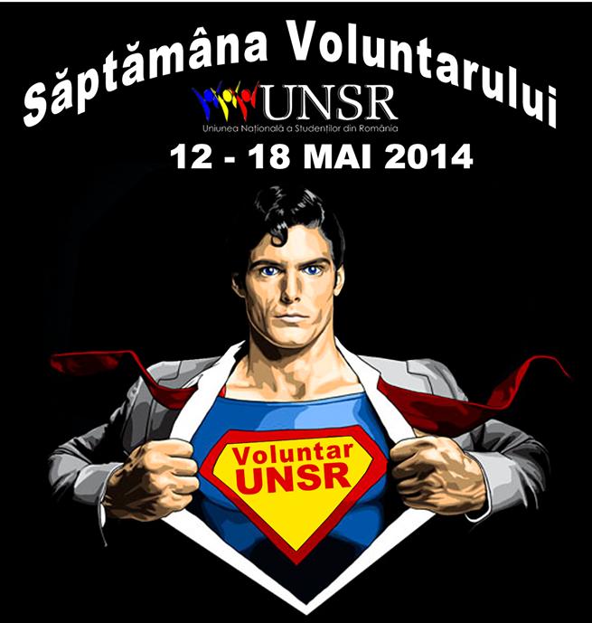 """Uniunea Națională a Studenților din România organizează """"Săptămâna Voluntarului"""""""