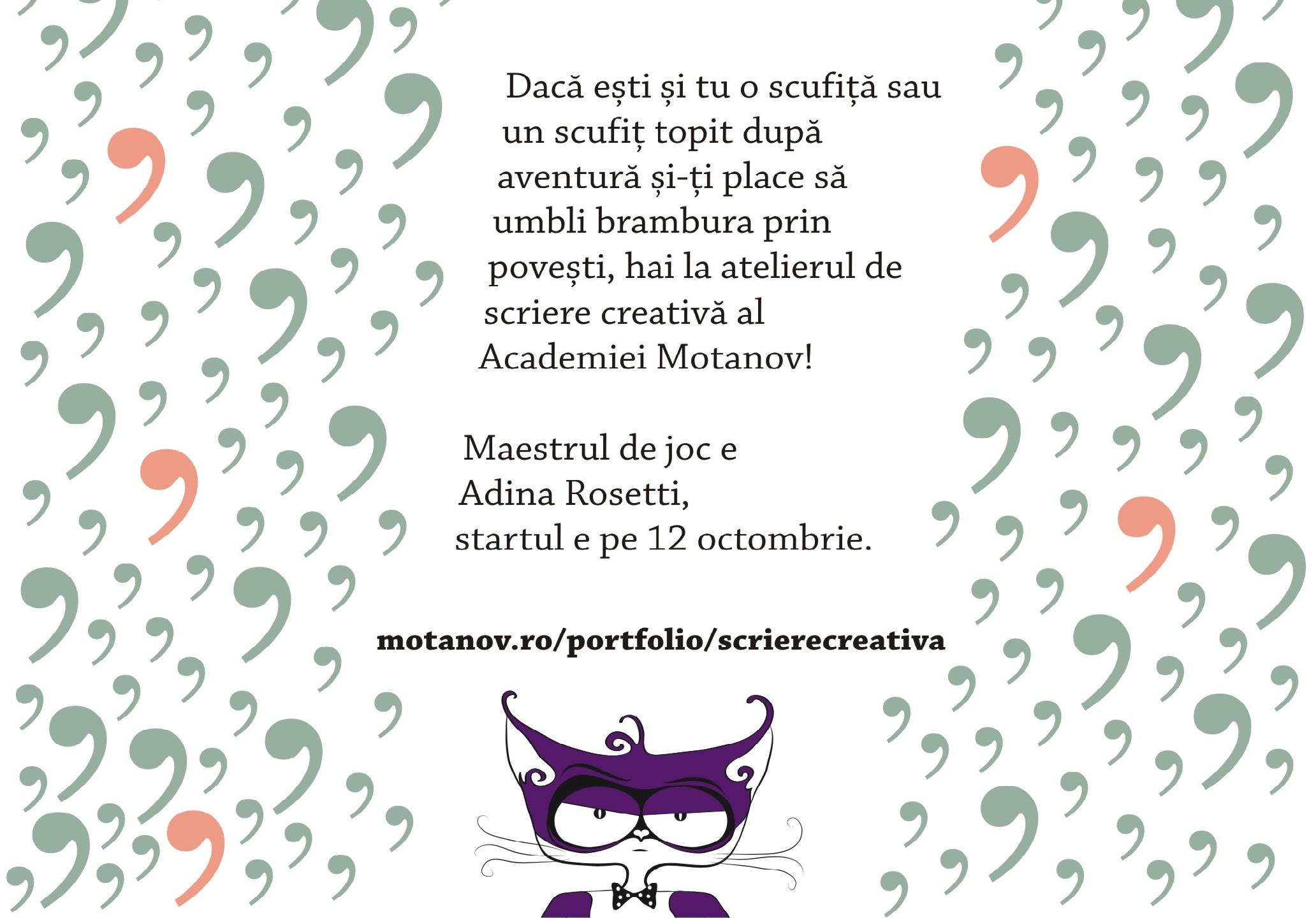 Academia Motanov organizează a doua ediție a atelierului de scriere creativă pentru copii