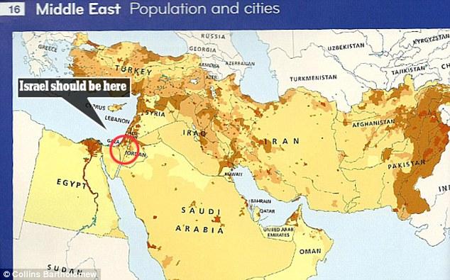Israelul a fost exclus din atlasul geografic publicat de editura HarperCollins