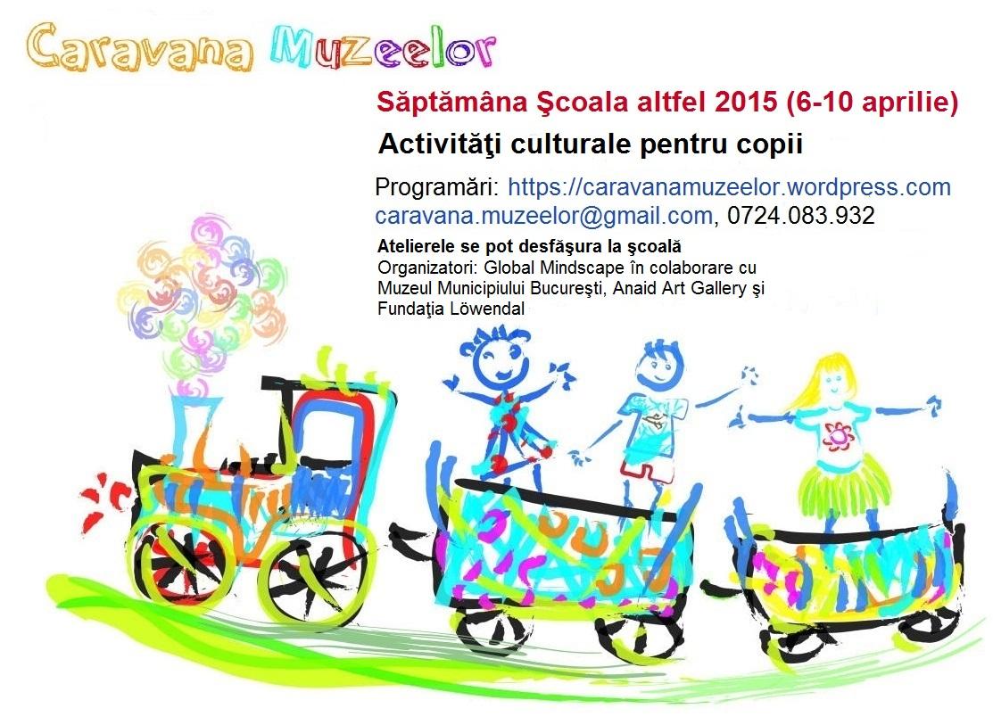 Caravana Muzeelor, un prilej pentru copii să cunoască mai bine Capitala