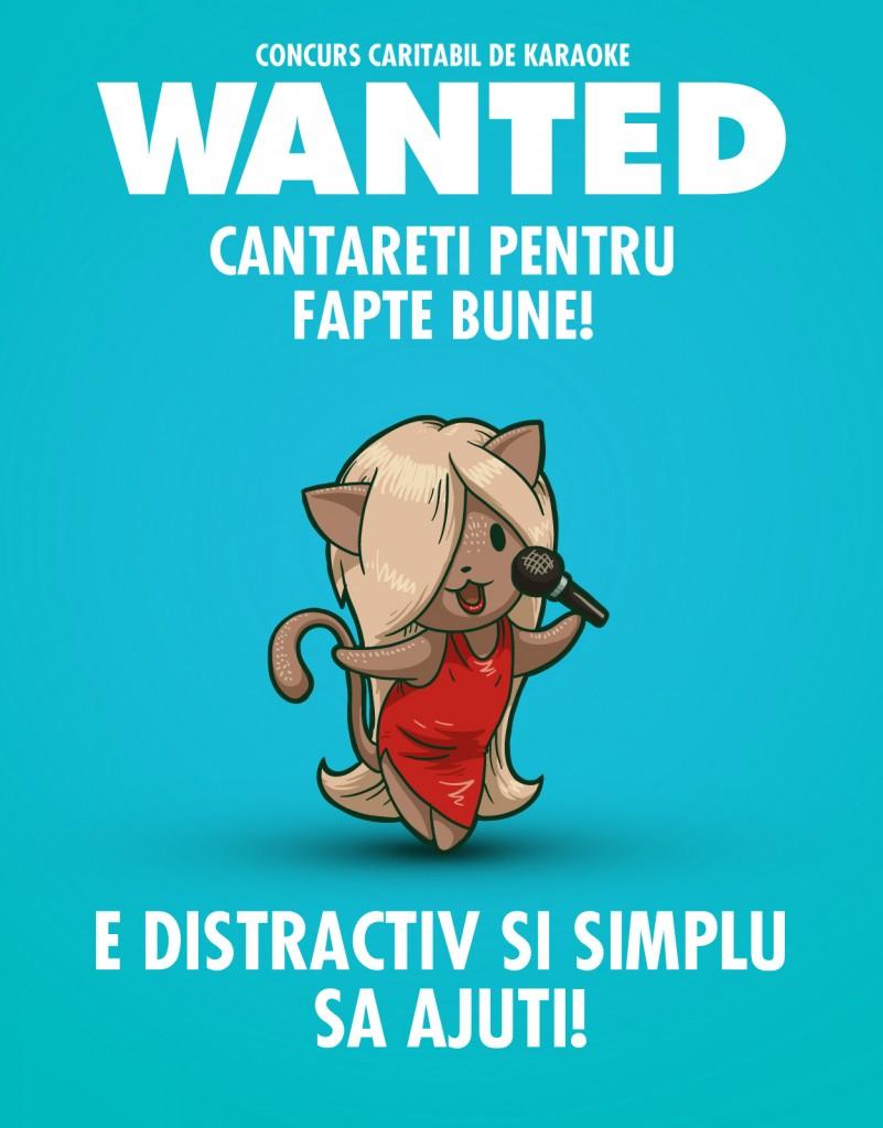 Wanted - concurs caritabil de karaoke