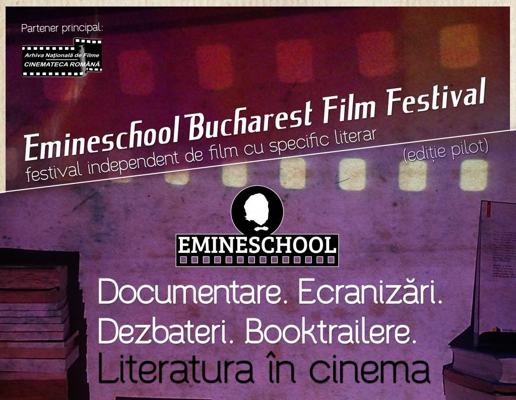 Emineschool Bucharest Film Festival, primul festival independent de film cu specific literar