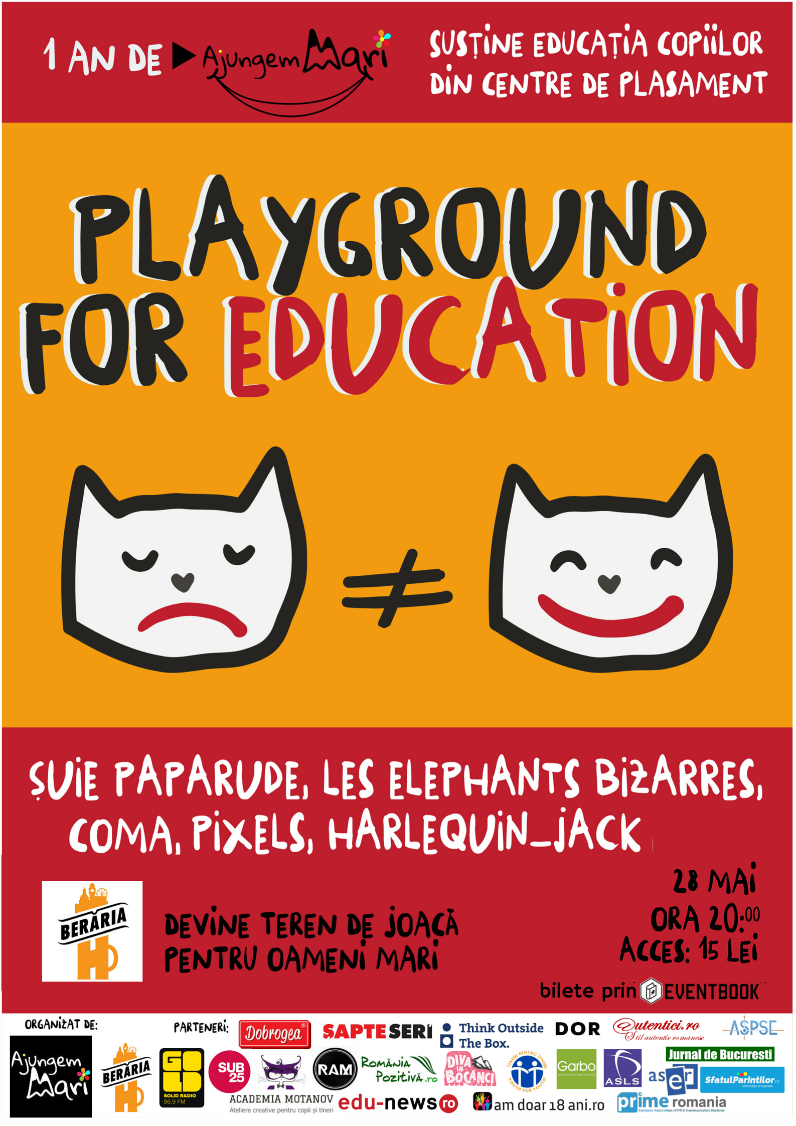 Playground for education – concert aniversar cu multă joacă