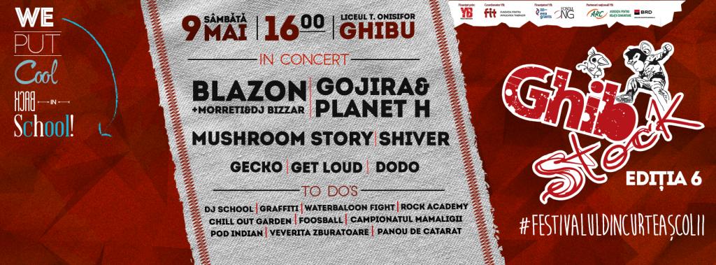 Festivalul Ghibstock, eveniment caritabil