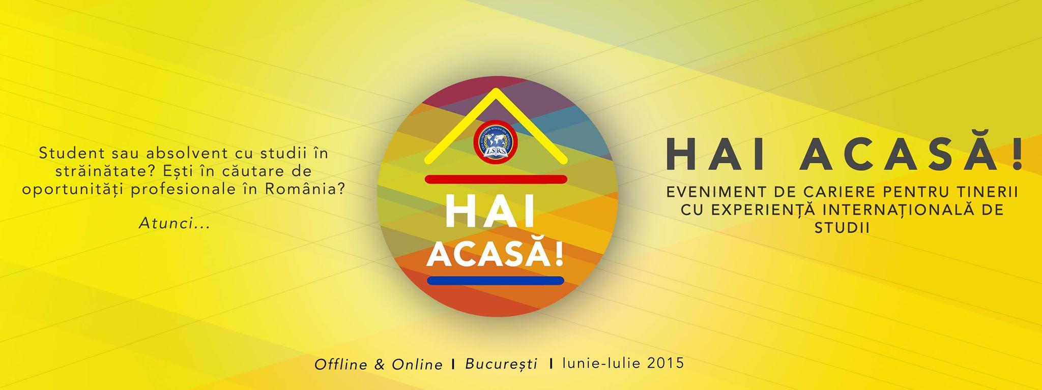 """LSRS lansează a patra ediție a evenimentului de cariere """"Hai Acasă!"""" și BCCSE"""