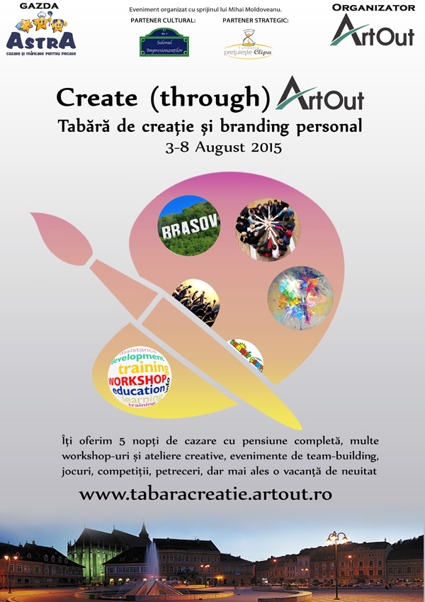 Înscrie-te în tabăra de creație și branding personal Create through Art Out