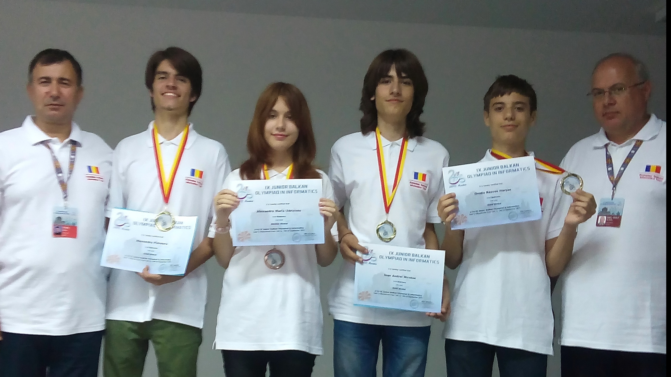 Trei medalii de aur și o medalie de bronz la Olimpiada Balcanică de Informatică pentru Juniori