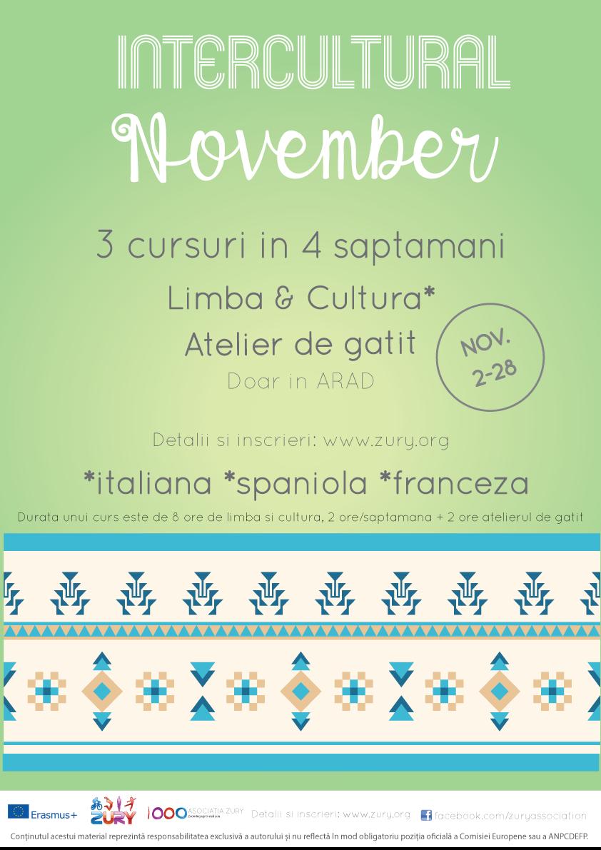 Inscrie-te la cursuri gratuite de limbi straine si ateliere gastronomice in ARAD