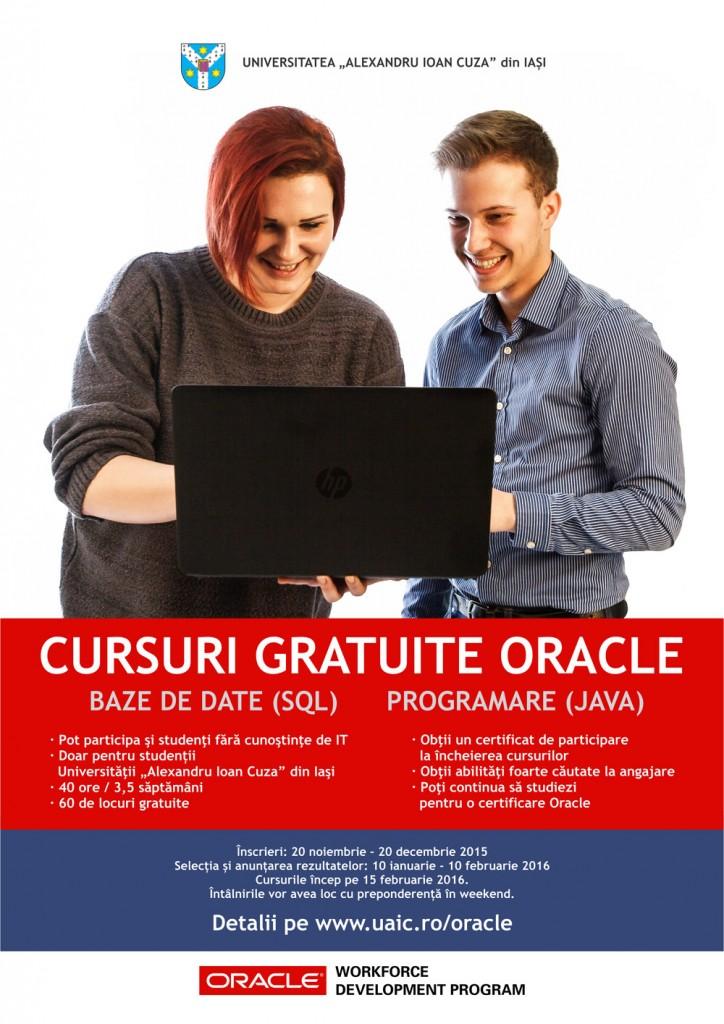 """Universitatea """"Alexandru Ioan Cuza"""" oferă cursuri autorizate Oracle studenților săi"""