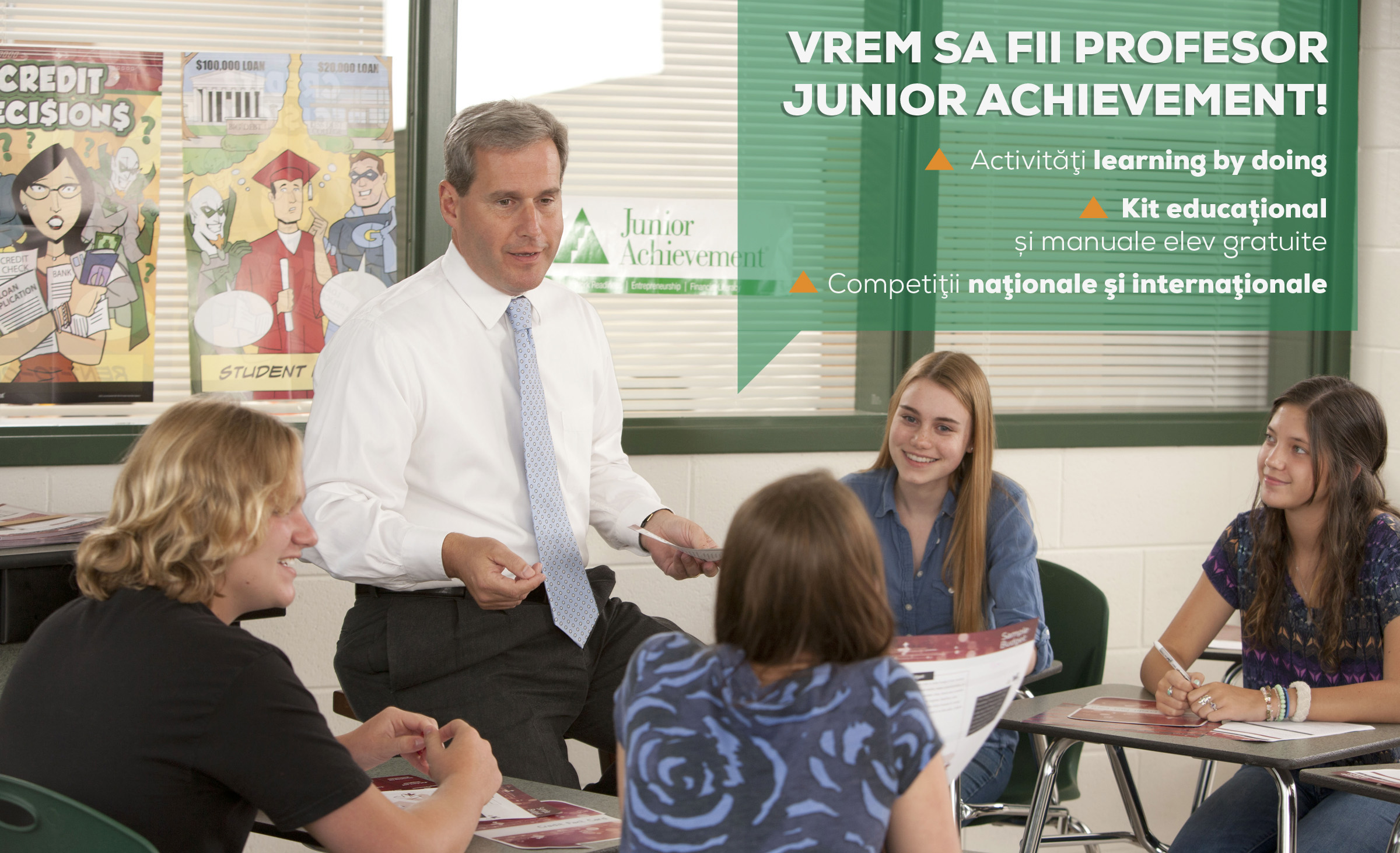 Încep înscrierile în programele internaționale JA – Curriculum la Decizia Școlii (CDȘ)