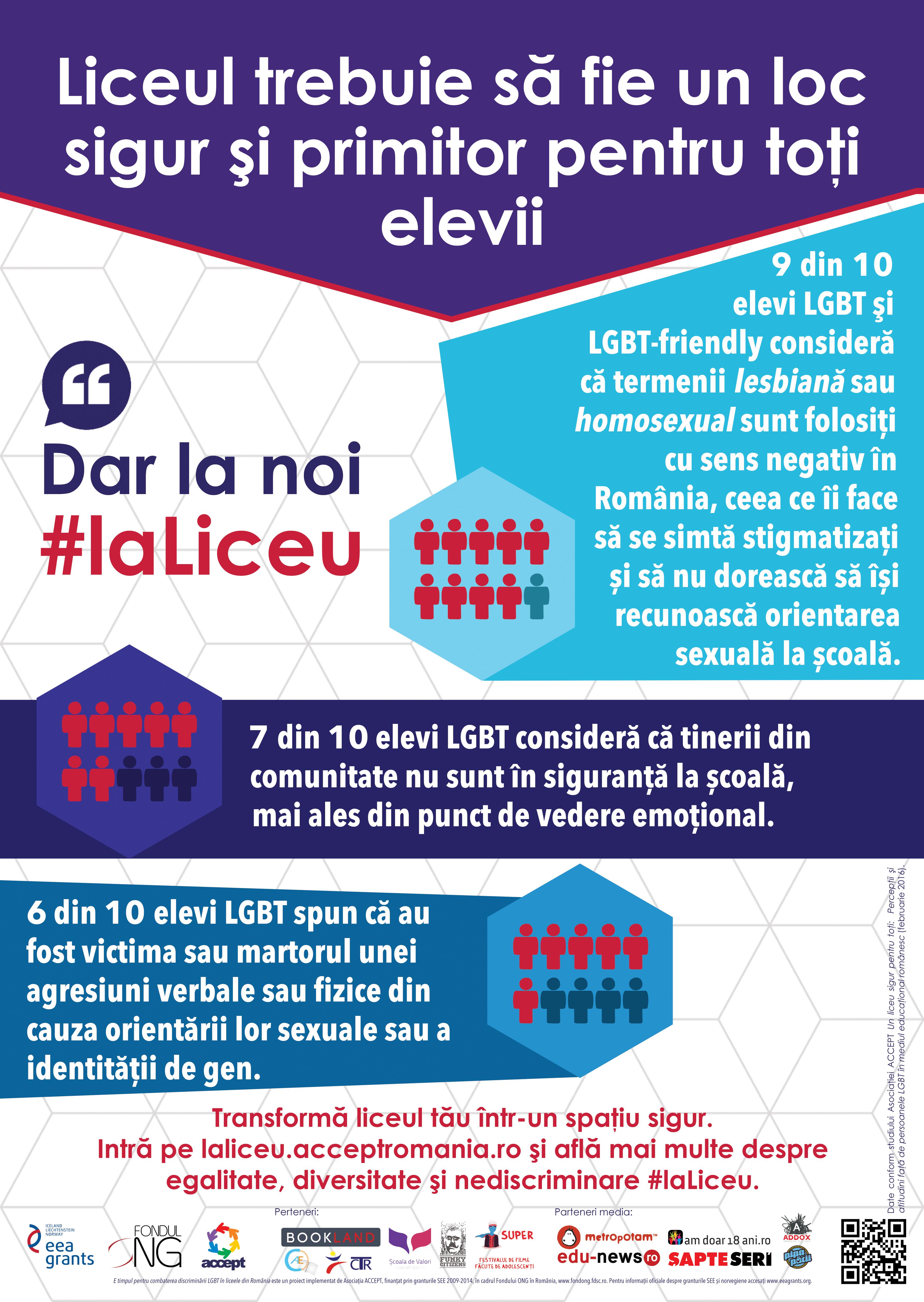 LGBT #laLiceu: ne cerem dreptul la educație de calitate