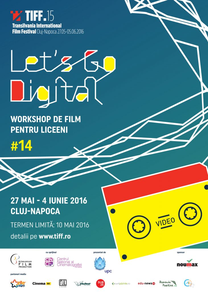 Start pentru înscrierile la Let's Go Digital!,  atelierul pentru liceeni de la TIFF