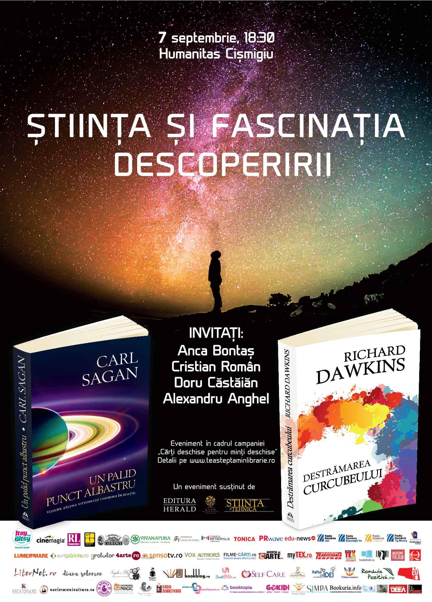 """Știința și fascinația descoperirii – Eveniment în cadrul campaniei """"Te așteptăm în librărie!"""""""