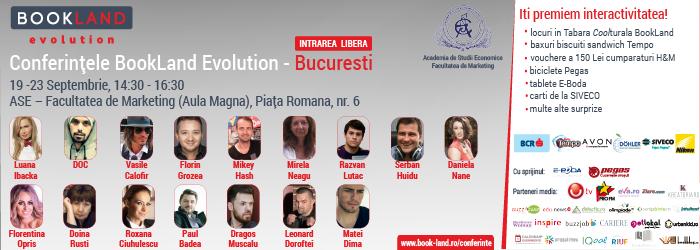 Azi afli cheia succesului în jurnalism, muzică și actorie la Conferințele BookLand Evolution