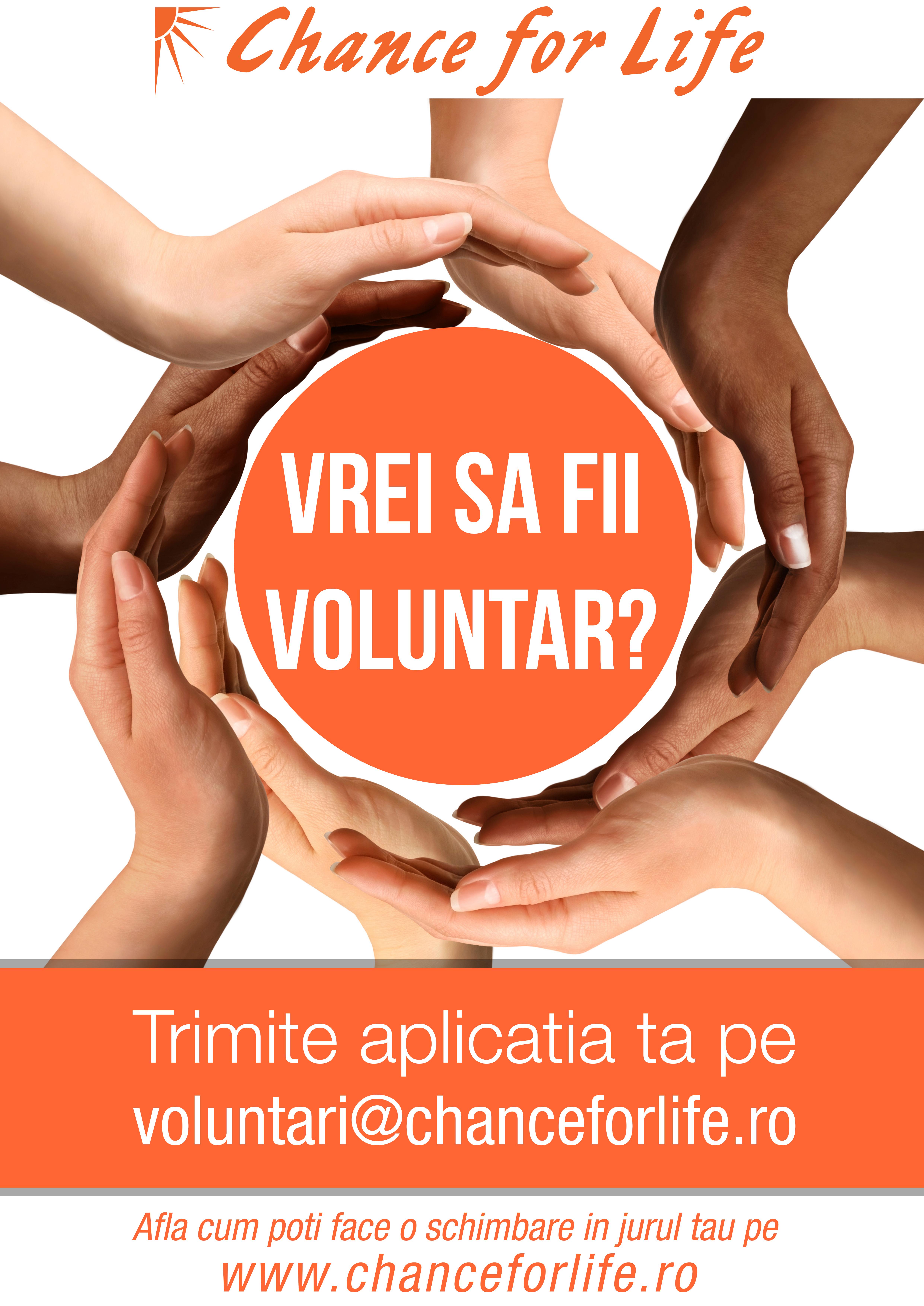 Vrei să îți dezvolți creativitatea în timp ce faci și o faptă bună? Fundația Chance for Life recrutează voluntari!