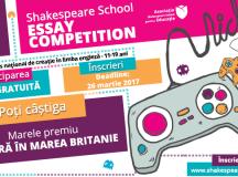 Shakespeare School Essay Competition dă startul celei de-a 9-a ediții a concursului național de creație în limba engleză!
