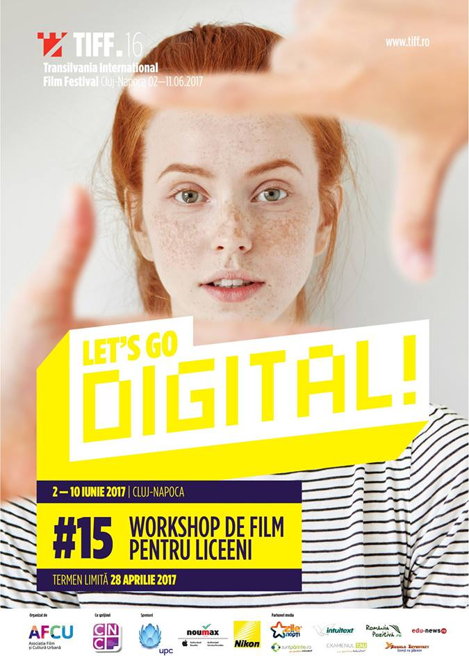 Adolescenții fac filme la TIFF:  încep înscrierile pentru Let's Go Digital!