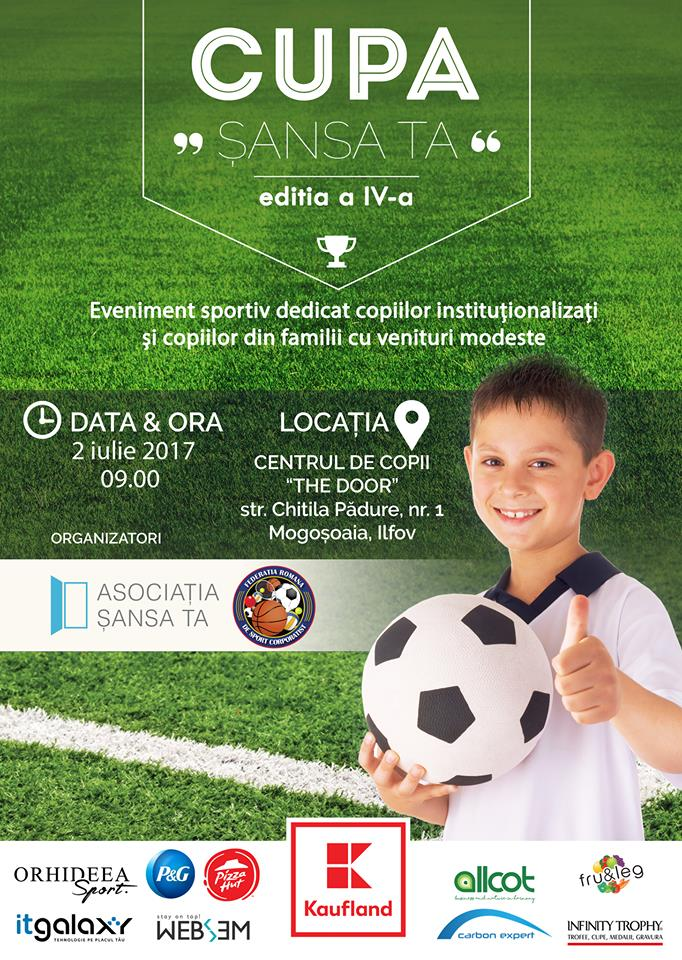 Competiție de fotbal pentru copiii instituționalizați sau din familii modeste