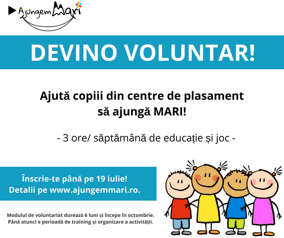 Înainte de vacanță, înscrie-te la voluntariat pentru copiii din centre de plasament!