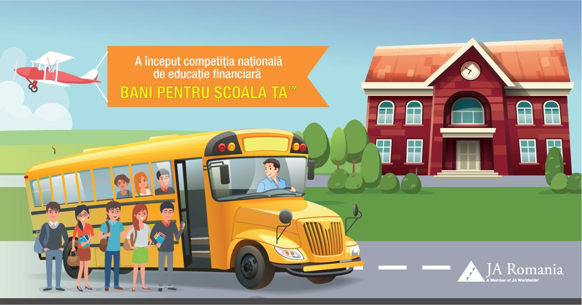 Liceele din tara pot beneficia de finantari de pana la 10.000 euro in competitia Bani pentru scoala ta!
