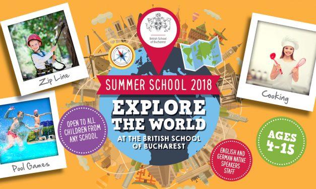 British School of Bucharest te invita intr-o calatorie in jurul lumii la editia 2018 a Scolii de Vara!