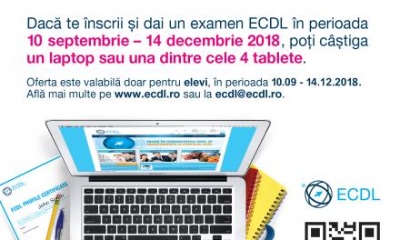 Competentele IT obligatorii la scoala. Concurs ECDL. #BackToSchool