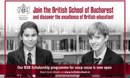 British School of Bucharest ofera elevilor burse pentru anul academic 2019-2020!