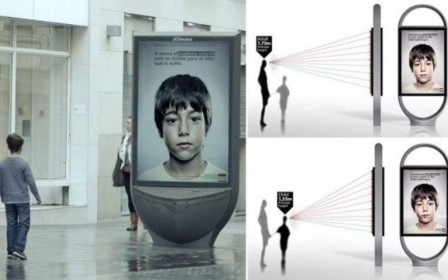 Posterul anti-abuz pe care numai copiii îl pot vedea