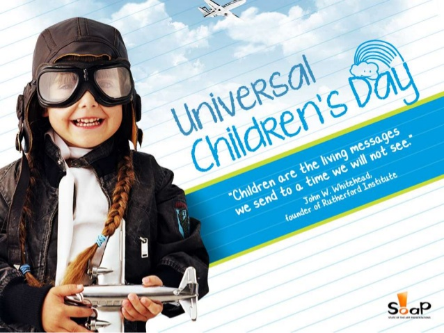 Astăzi este Ziua Internațională a Drepturilor Copilului!