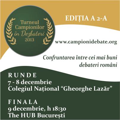 Campionii României la dezbateri se înfruntă la București