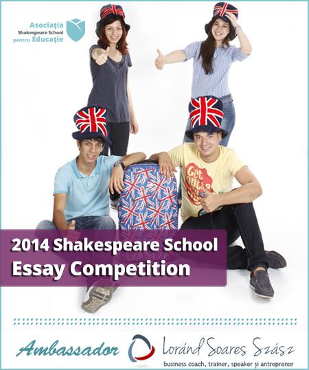200 de cuvinte pentru două saptămâni în Marea Britanie: A început Shakespeare School Essay Competition!