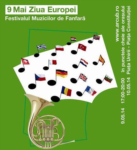 Bucureștiul sărbătorește Ziua Europei prin Festivalul Muzicilor de Fanfară