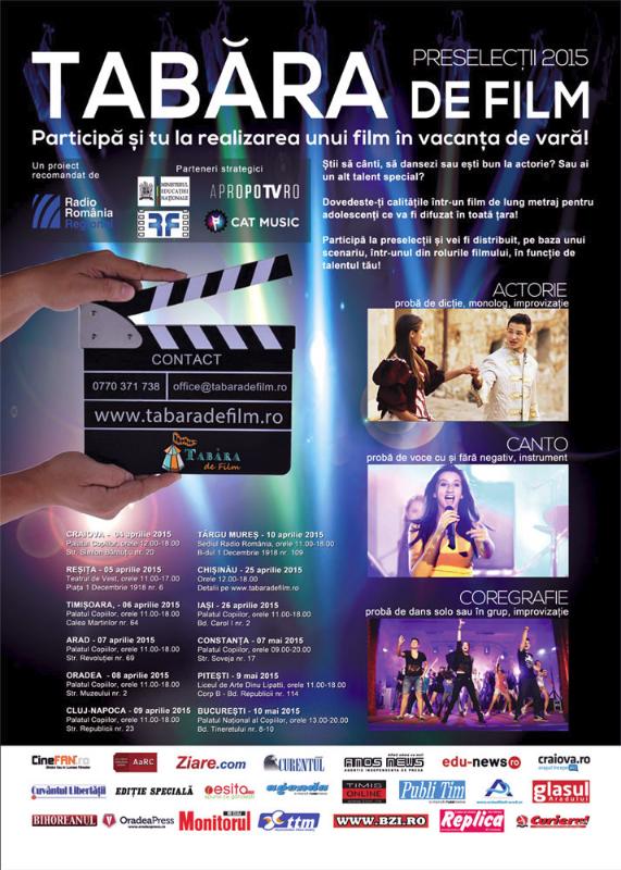 """Au început preselecțiile internaționale pentru """"Tabăra de Film"""" – ediția a 5-a!"""