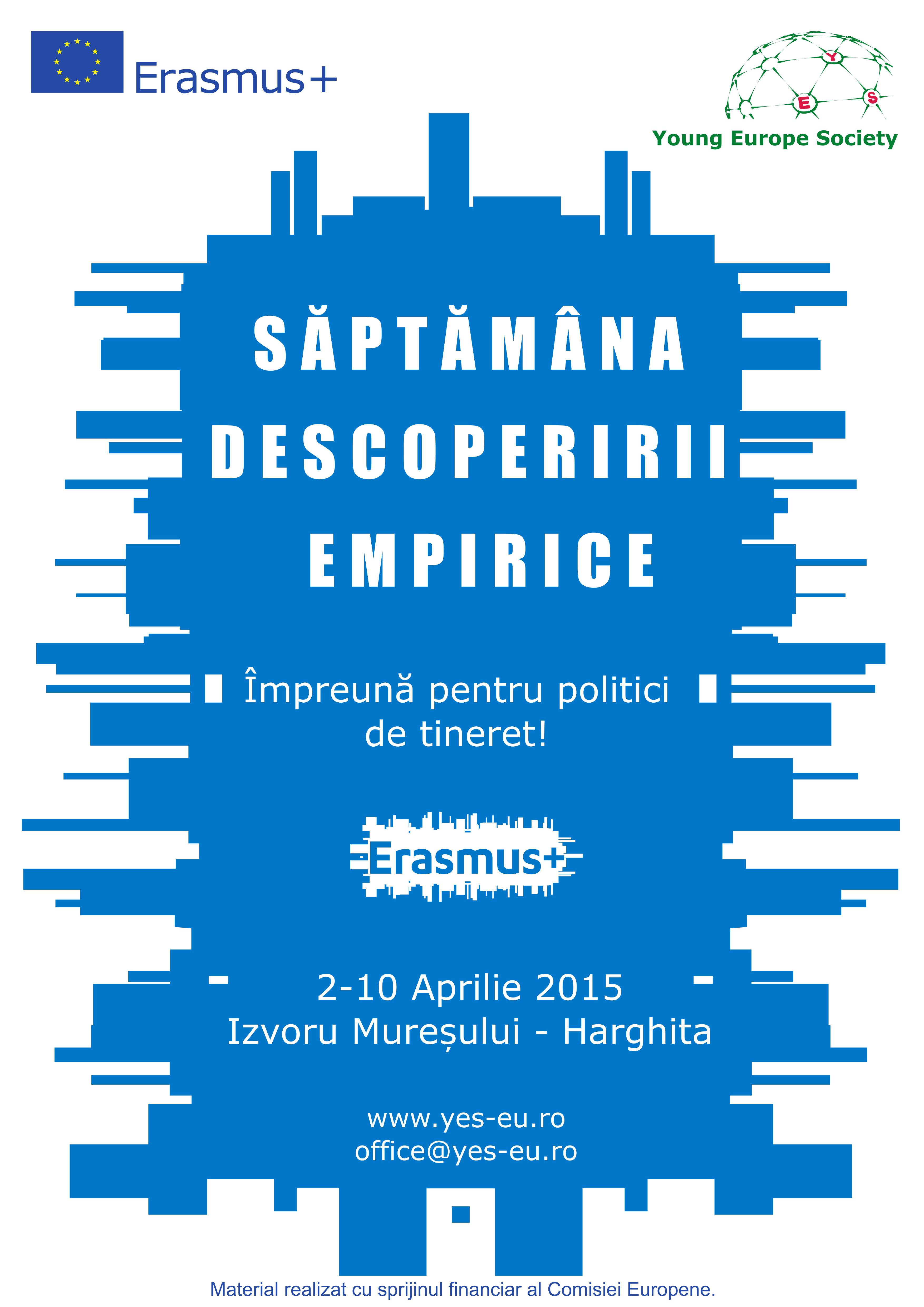 """Young Europe Society lansează proiectul ,,Săptămâna Descoperirii Empirice"""""""
